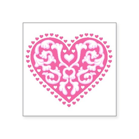 "heart3.png Square Sticker 3"" x 3"""