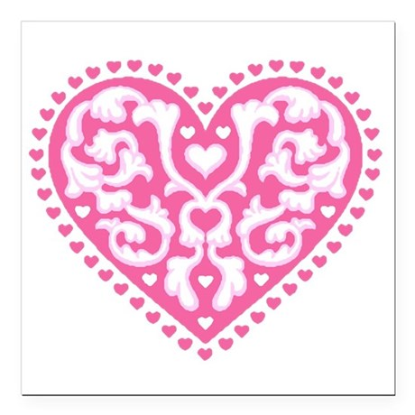 "heart3.png Square Car Magnet 3"" x 3"""