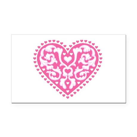 heart3.png Rectangle Car Magnet