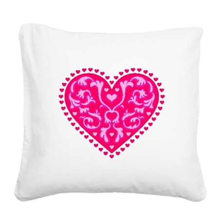 heart2.png Square Canvas Pillow