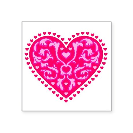 "heart2.png Square Sticker 3"" x 3"""
