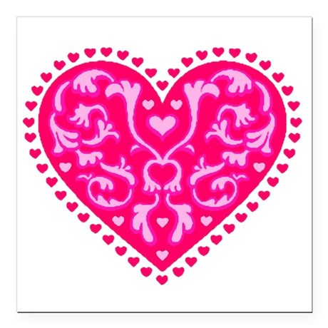 "heart2.png Square Car Magnet 3"" x 3"""