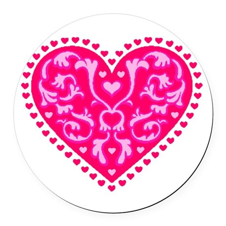 heart2.png Round Car Magnet