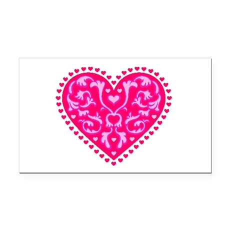heart2.png Rectangle Car Magnet