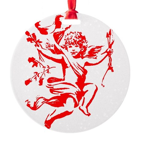 cupid2.png Round Ornament