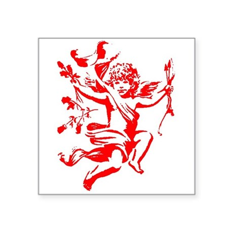 cupid2.png Square Sticker 3&quot; x 3&quot;