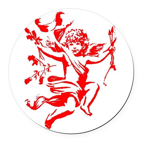 cupid2.png Round Car Magnet
