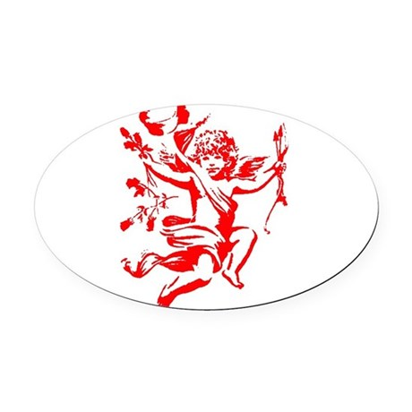 cupid2.png Oval Car Magnet