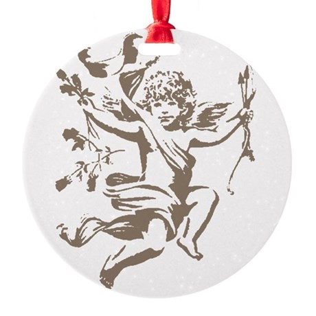 cupid.png Round Ornament
