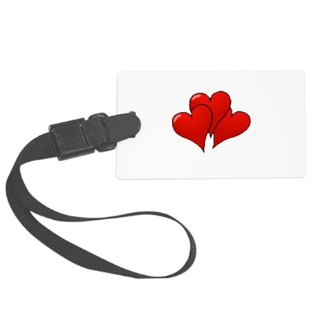 three hearts Large Luggage Tag
