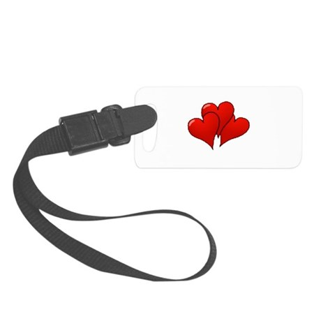 three hearts Small Luggage Tag
