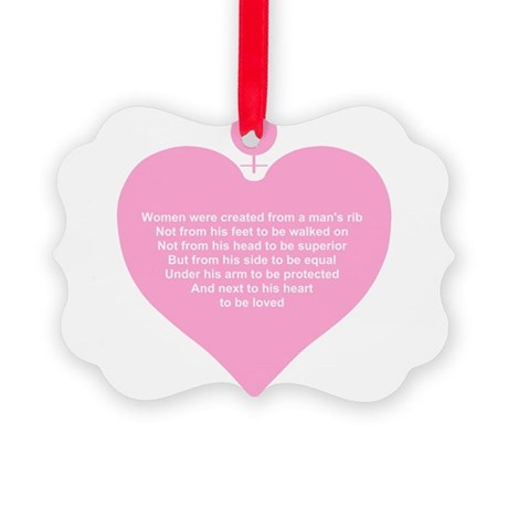 Women Created Heart Picture Ornament