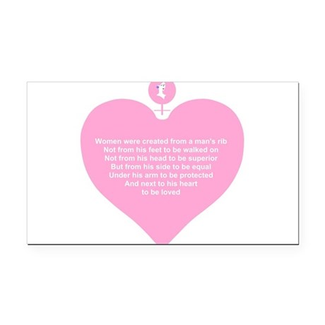 Women Created Heart Rectangle Car Magnet