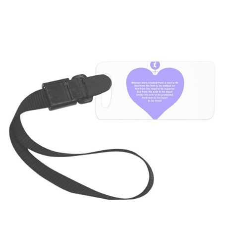 Women Created Heart Small Luggage Tag