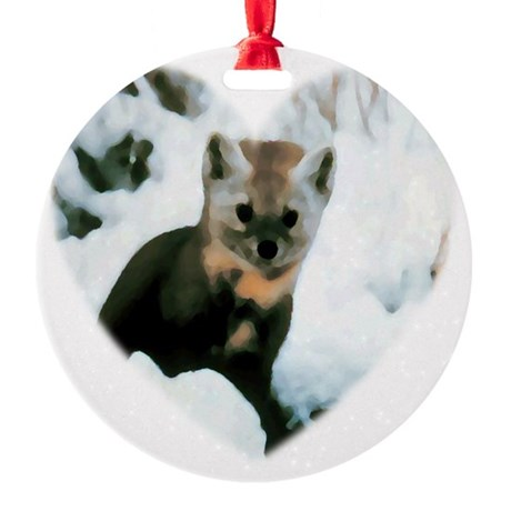 baby fox Round Ornament