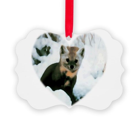 baby fox Picture Ornament