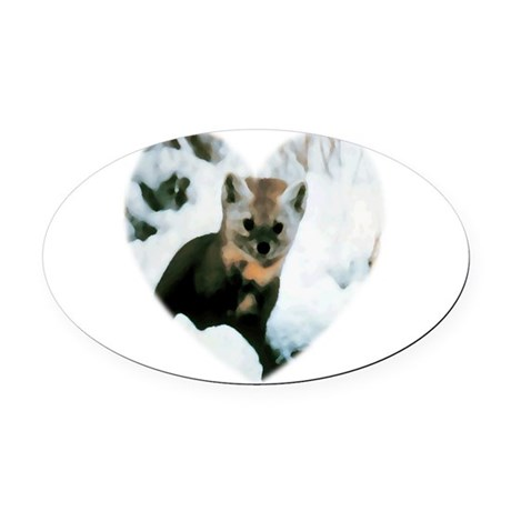 baby fox Oval Car Magnet