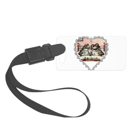 Frog Couple Small Luggage Tag