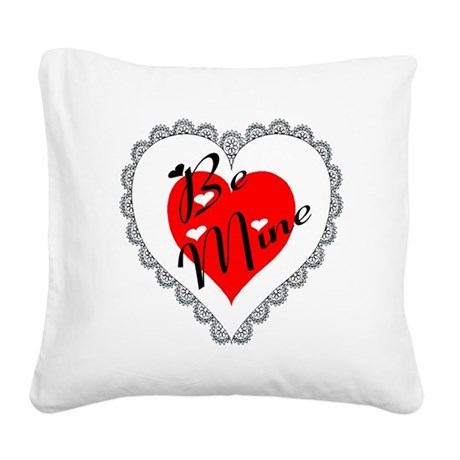 heart Square Canvas Pillow