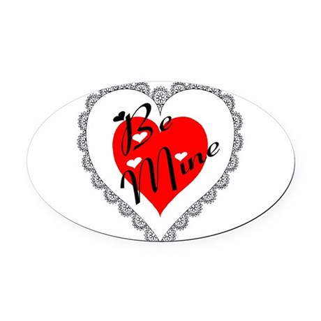 heart Oval Car Magnet