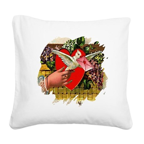 Valentine Square Canvas Pillow