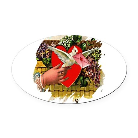 Valentine Oval Car Magnet