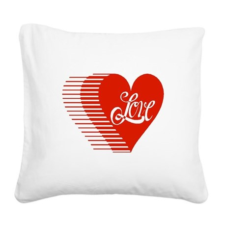 love heart Square Canvas Pillow