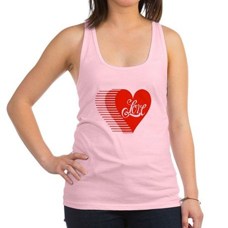 love heart Racerback Tank Top