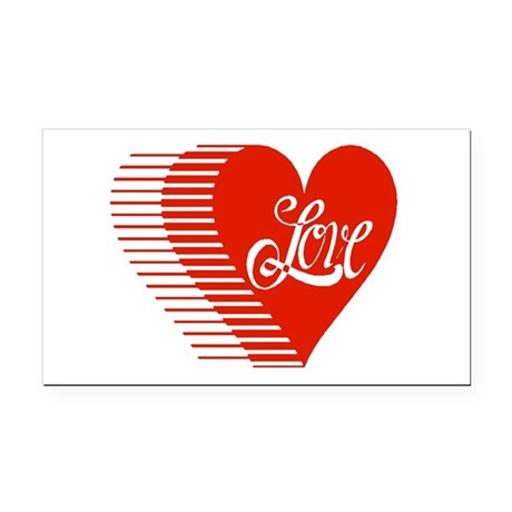 love heart Rectangle Car Magnet