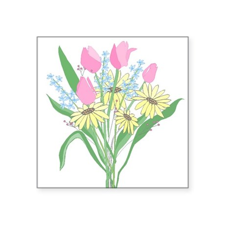 "bouquet Square Sticker 3"" x 3"""