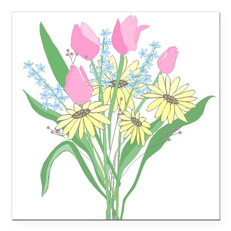 "bouquet Square Car Magnet 3"" x 3"""