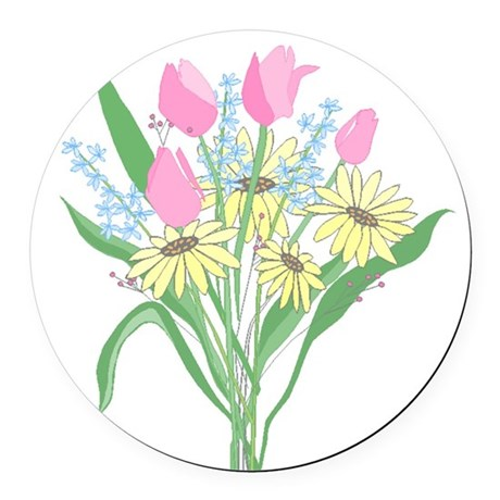 bouquet Round Car Magnet