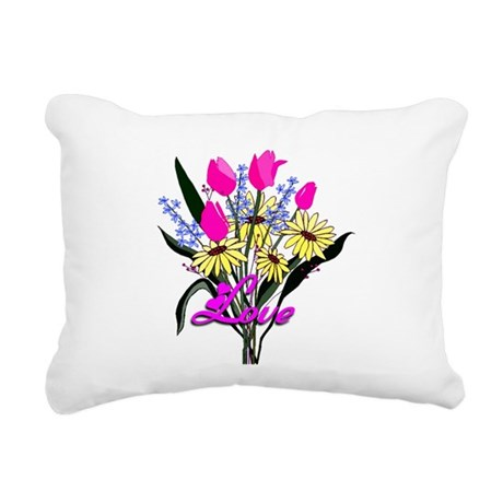 bouquet Rectangular Canvas Pillow