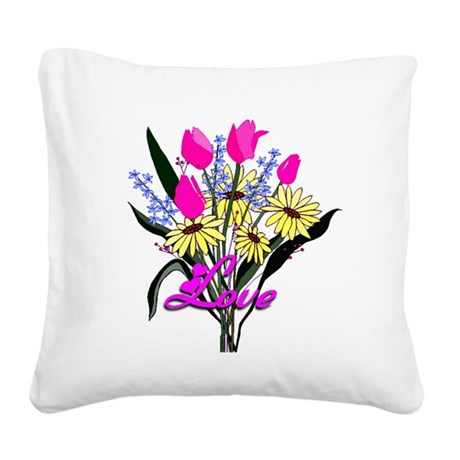 bouquet Square Canvas Pillow