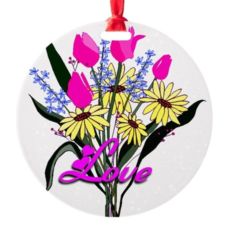 bouquet Round Ornament