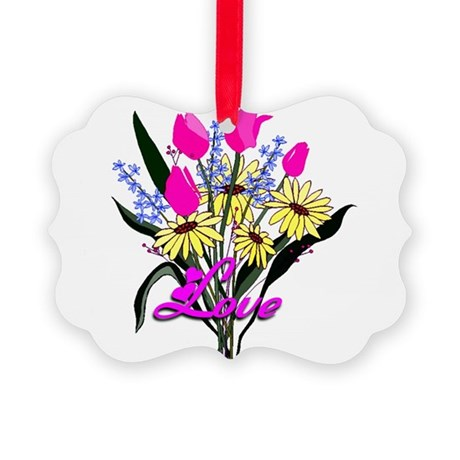 bouquet Picture Ornament