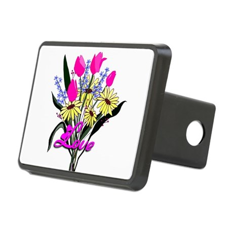 bouquet Rectangular Hitch Cover