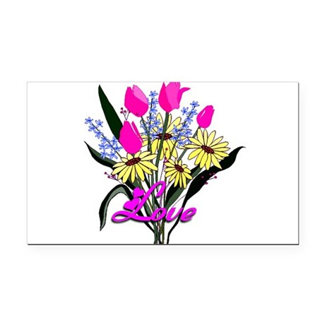 bouquet Rectangle Car Magnet