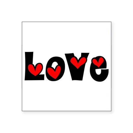 Love Square Sticker 3&quot; x 3&quot;
