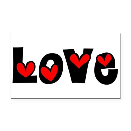 Love Rectangle Car Magnet