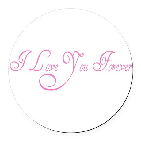 love forever Round Car Magnet