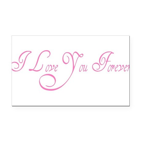 love forever Rectangle Car Magnet