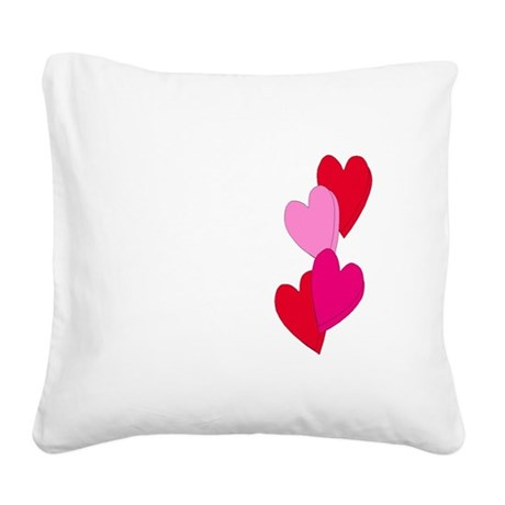 Candy Hearts Square Canvas Pillow