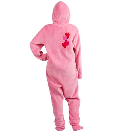Candy Hearts Footed Pajamas