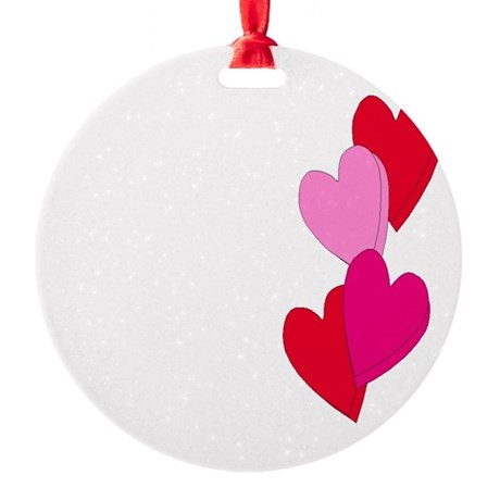 Candy Hearts Round Ornament