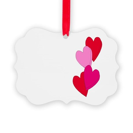 Candy Hearts Picture Ornament