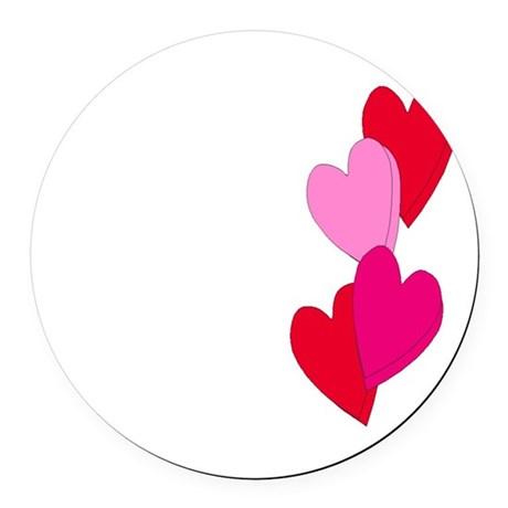 Candy Hearts Round Car Magnet