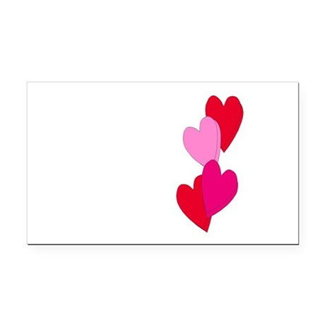 Candy Hearts Rectangle Car Magnet