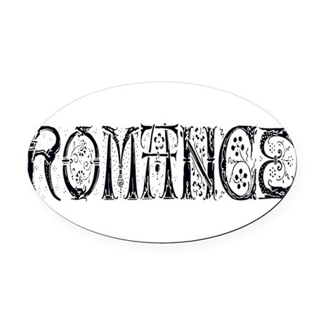 Romance Oval Car Magnet