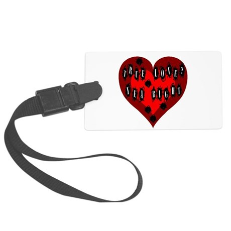 Bullet Hole Heart Large Luggage Tag